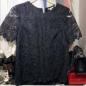 Reiss lace top